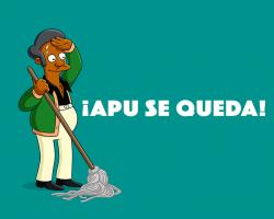 ¡Apu se queda!